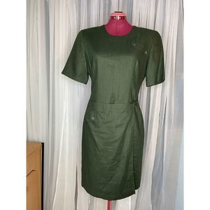 Saville wrap skirt linen dress sz 8